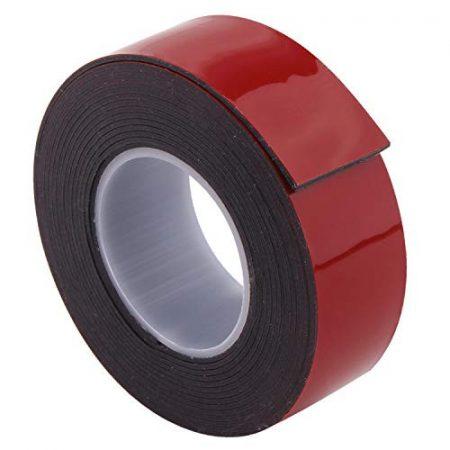 IND 6406 vékony fekete ragasztószalag LSE felületekhez  25mm