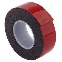 IND 6406 vékony fekete ragasztószalag LSE felületekhez  6mm