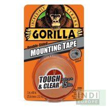 Gorilla Mounting Tape Kristálytiszta Kétoldalas Ragasztószalag