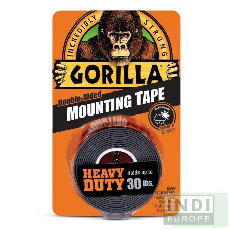 Gorilla Mounting Tape Fekete Kétoldalas Ragasztószalag