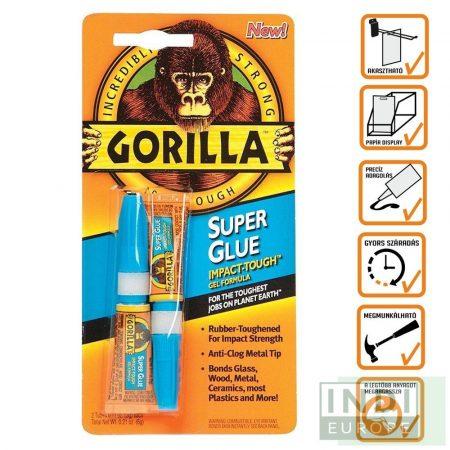Gorilla Super Glue Pillanatragasztó 2x3g