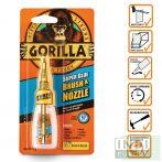 Gorilla Super Glue Brush & Nozzle Ecsetes Pillanatragasztó 12g