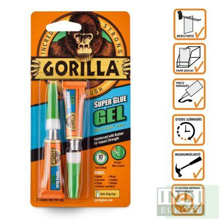 Gorilla Super Glue Gél Pillanatragasztó 2x3g