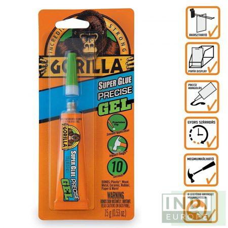 Gorilla Super Glue Gél Precíziós Pillanatragasztó 15g