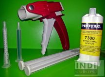 Kétkomponensű epoxy ragasztó egységcsomag 1:1 arányú, tisztítókendővel